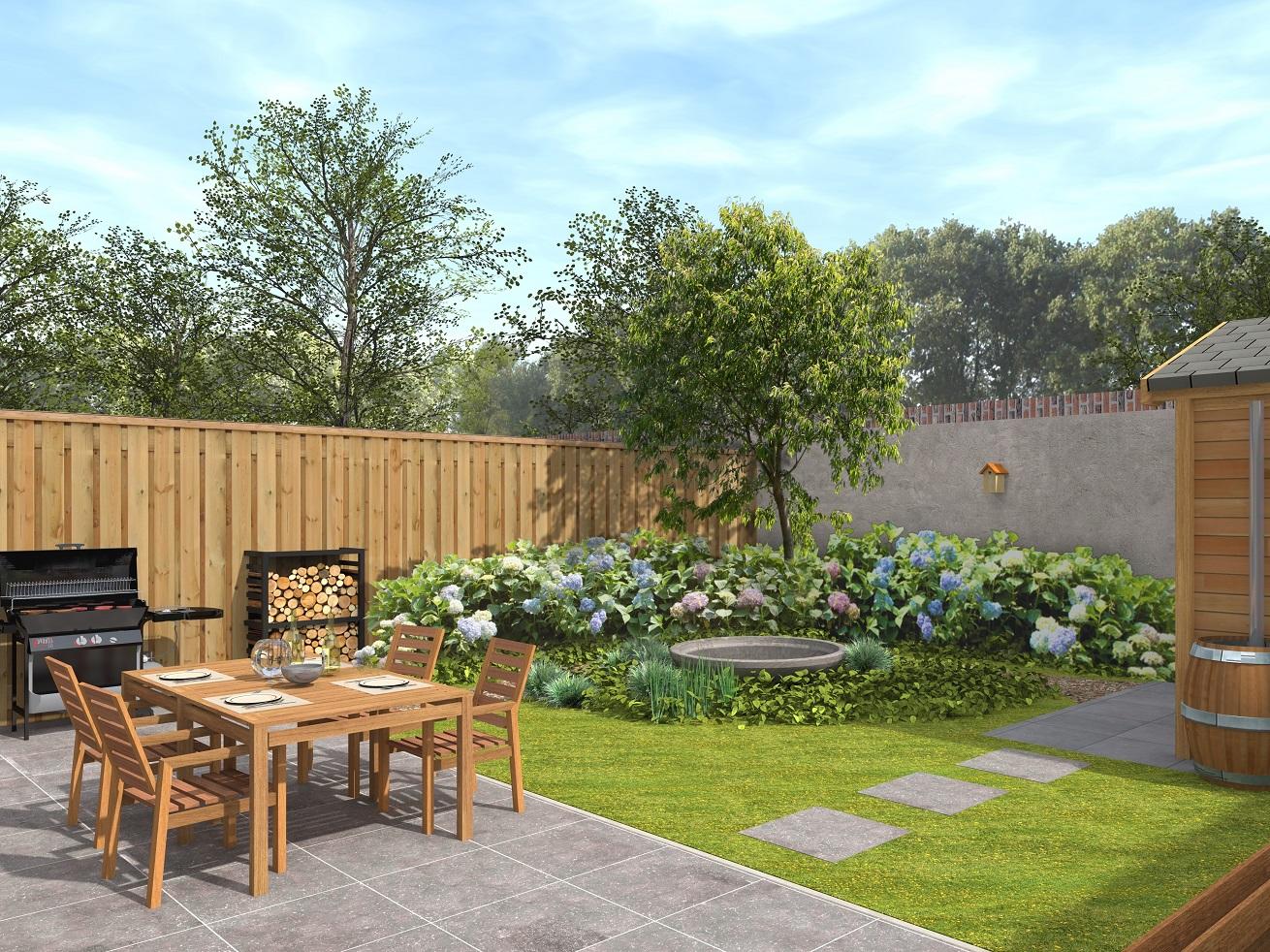 Exclusieve tuinen en levensechte 3d ontwerpen bijzonder for Eenvoudige tuinontwerpen