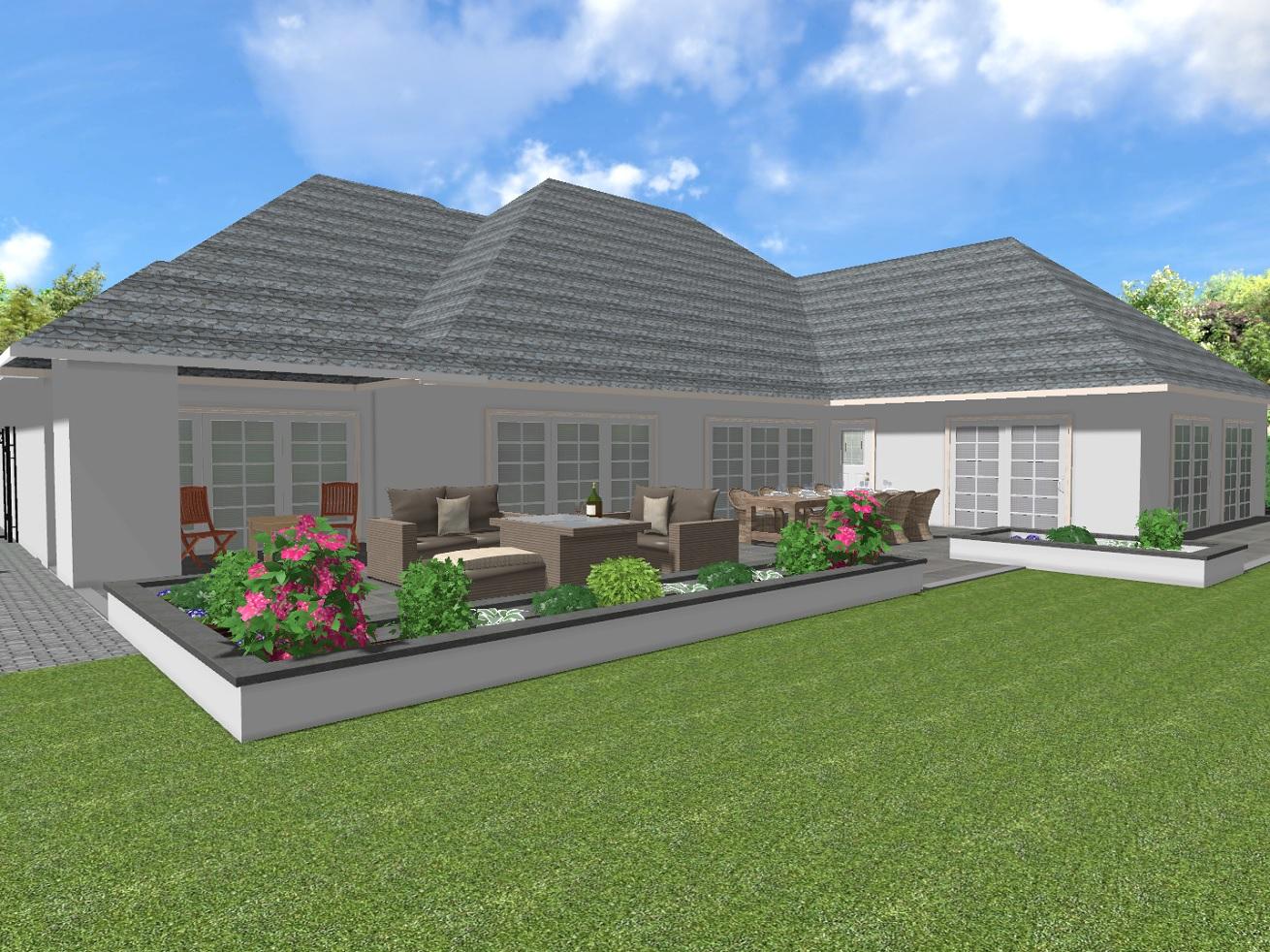 Exclusieve tuinen en levensechte 3d ontwerpen bijzonder for 3d tuin ontwerpen