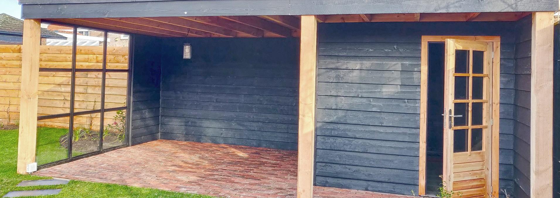 Onwijs tuinhuis-overkapping-teteringen-glaswand - Van Rijn Tuinoplossingen RZ-17