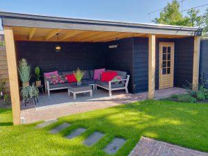 Douglas overkapping, veranda of tuinhuis met plat dak kiezen veel mensen